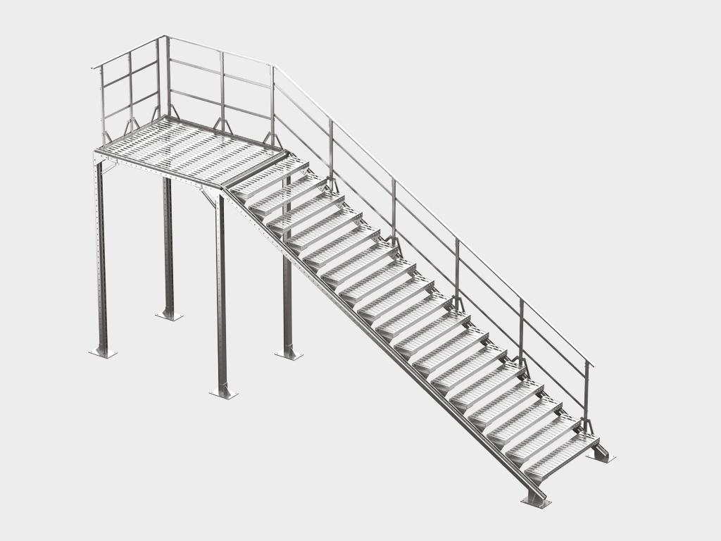 <p>Лестница наружного исполнения</p>