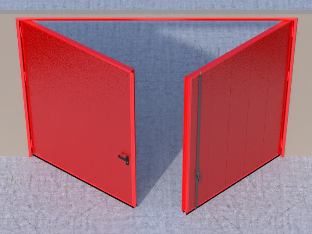 <p>Открывание створок внутрь помещения — левая створка активная, правая пассивная.</p>