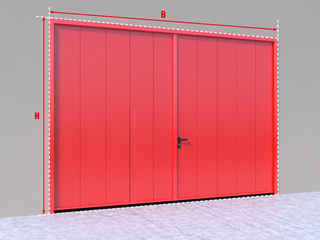 <p>Противопожарные распашные ворота.</p>
