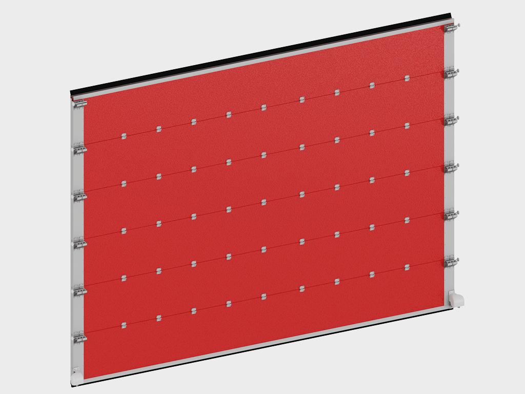 <p>Щит ворот из стальных сэндвич-панелей толщиной 60 мм</p>