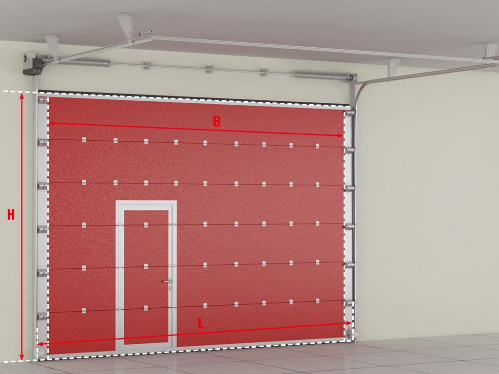 <p>Секционные противопожарные ворота. Основные размеры.</p>