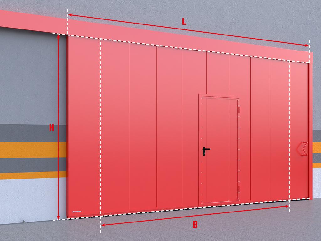 <p>Одностворчатые сдвижные ворота</p>