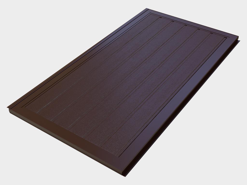 <p>Створка калитки, состоящая из комплекта сэндвич-панелей толщиной 40 мм и алюминиевых профилей для окантовки, поставляемых в разборе.</p>