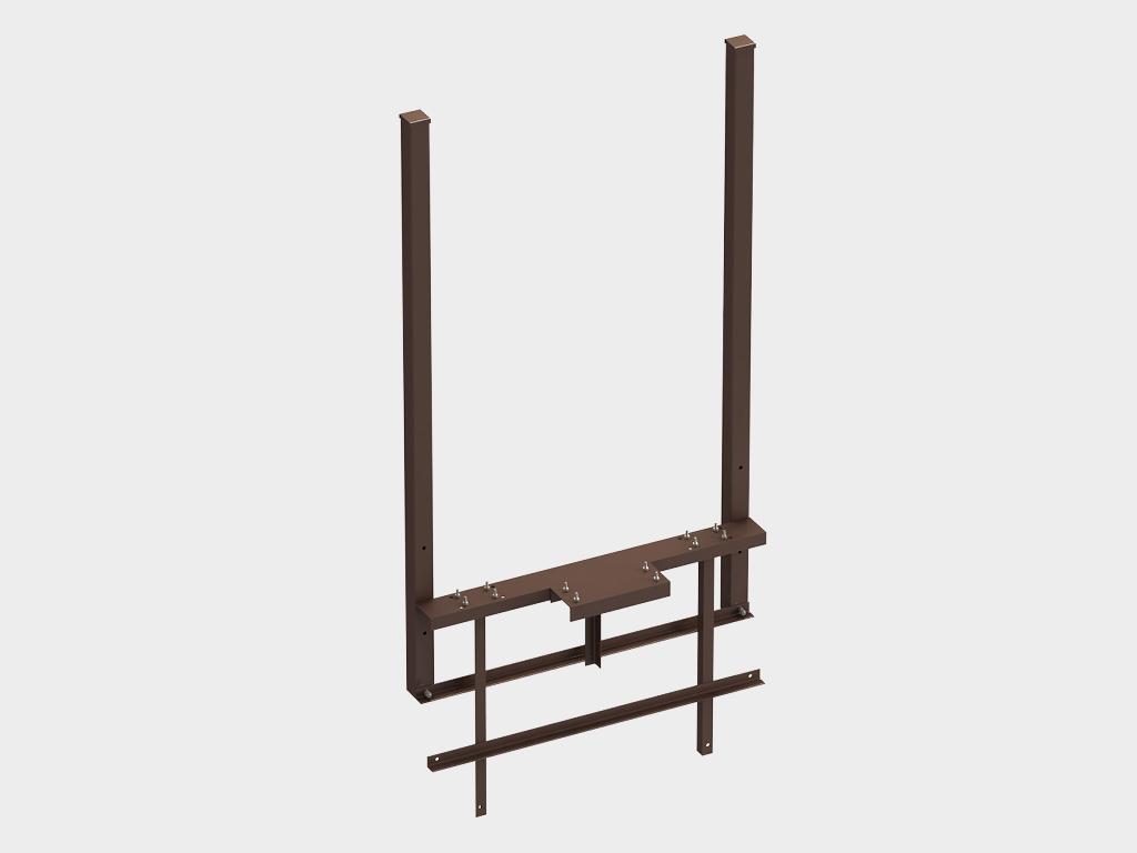 <p>Комплект силовой рамы (предназначен для крепления автоматики и элементов подвеса полотна ворот)</p>