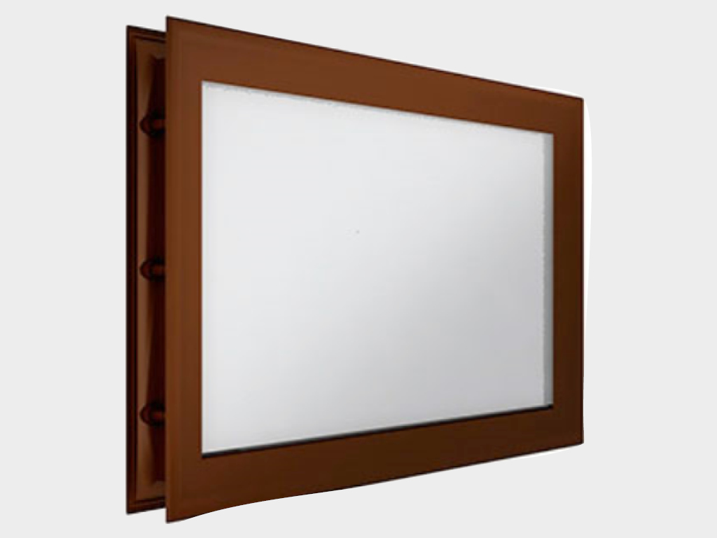 <p>Окно акриловое 452 × 302, коричневое (арт. DH85631). Специальная конструкция обеспечивает плотное прилегание к полотну ворот, что защищает его от промерзания и теплопотери. Окантовка коричневого цвета.</p>