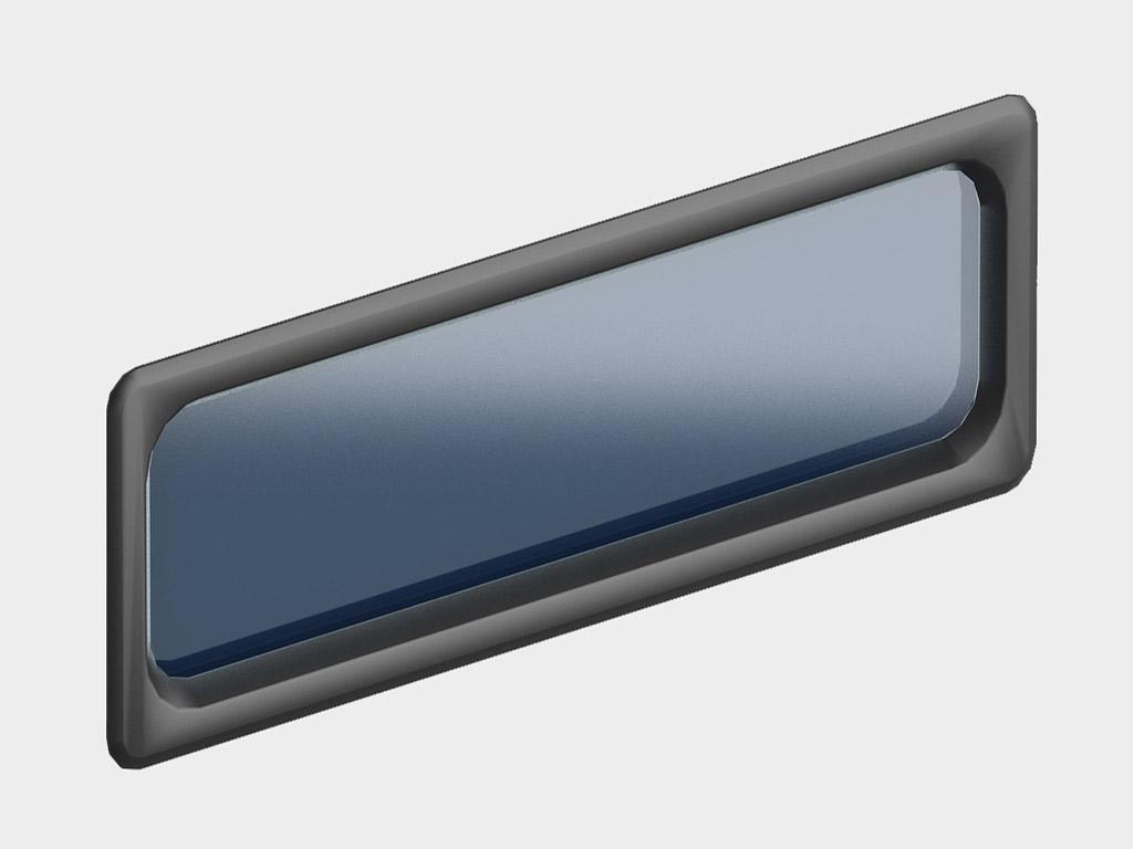 <p>Окно акриловое 607 × 202, черное (арт. DH85602). Специальная конструкция обеспечивает плотное прилегание к полотну ворот, что защищает его от промерзания и теплопотери. Окантовка черного цвета.</p>