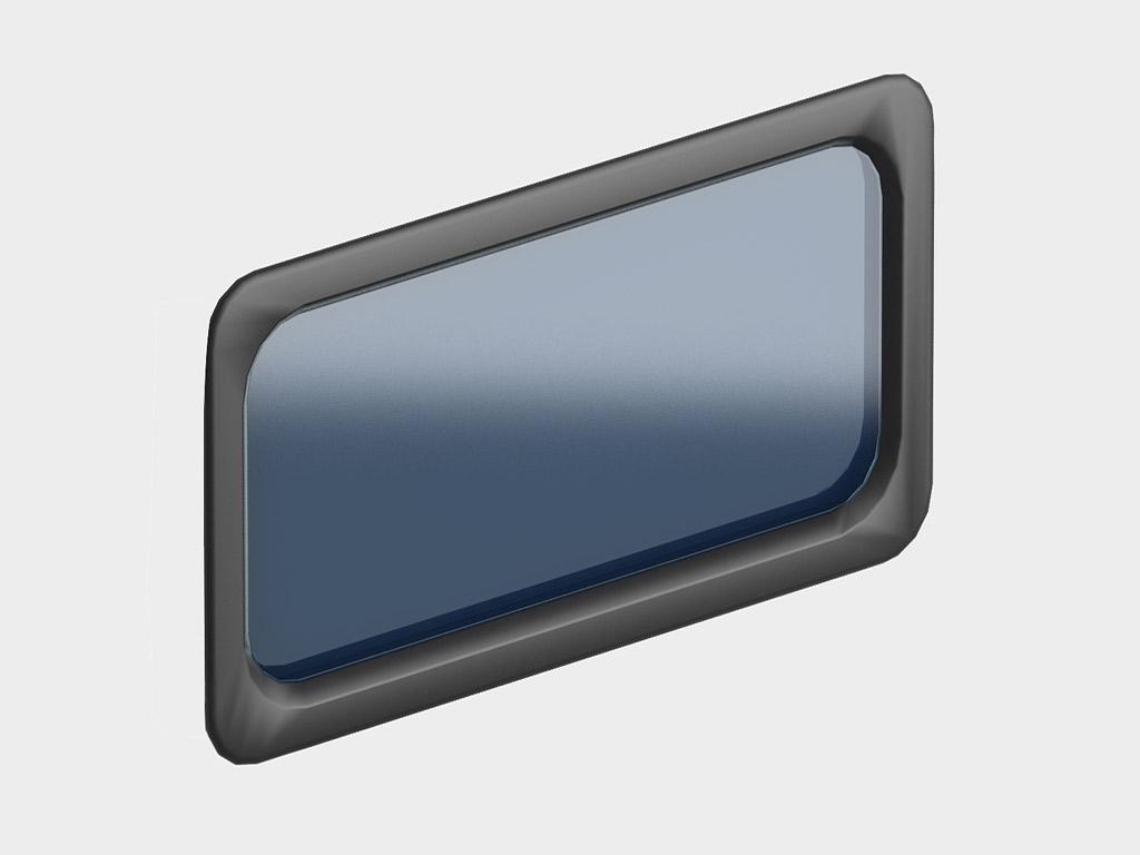 <p>Окно акриловое 627 × 327, черное, промышленное (арт. DH85603). Специальная конструкция обеспечивает плотное прилегание к полотну ворот, что защищает его от промерзания и теплопотери. Окантовка черного цвета.</p>