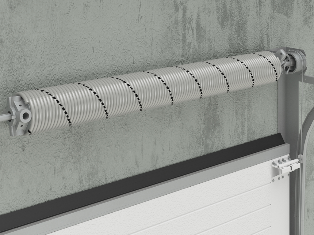 <p>Торсионный механизм, рассчитанный на 25 000 циклов. Долговечность конструкции обеспечивает открывание и закрывание полотна ворот без усилий.</p>