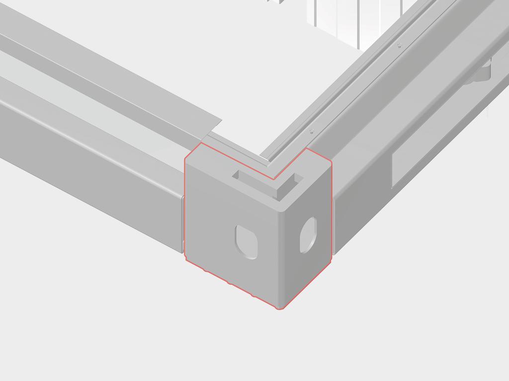 <p>Угловой элемент рамы обеспечивает разъемное соединение конструкции.</p>