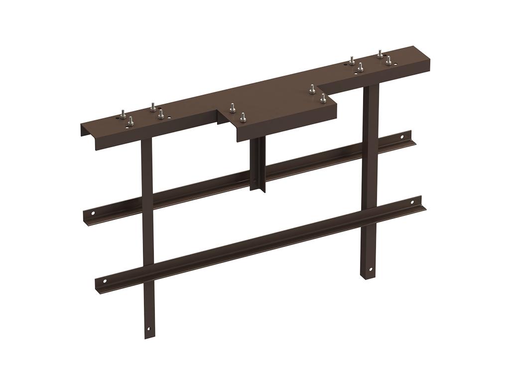 <p>Рама стандартная ОЯ (основание, якорь) под бетонирование для установки сдвижных ворот рядом с уже имеющимся прочным сооружением, позволяющим закрепить верхние поддерживающие ролики и ловители.</p>